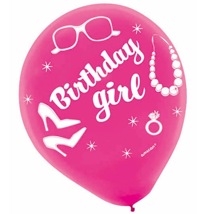 Birthday Girl Party Balloons | Sweet 16 Party Store
