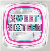 Sweet 16 Square Mylar Balloon