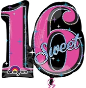 Sweet 16 Mylar Celebrations Balloon