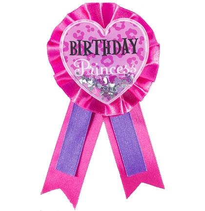 Birthday Princess Award Ribbon | Sweet 16 Party Supplies