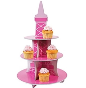 3 Tier Pink Eiffel Tower Centerpiece