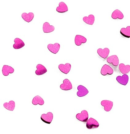 Hot Pink Heart Party Confetti Sweet 16 Party Decorations