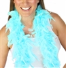 Fluffy Feather Boa: Light Aqua Blue