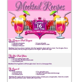 FREE Sweet 16 Party Mocktail Recipes