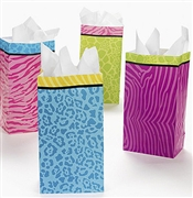 Set of 12 Party Animal Print Party Favor Bags
