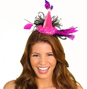 Pink and Black Feather Party Headband