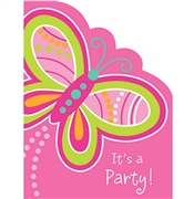 Sparkle Butterfly Invitations