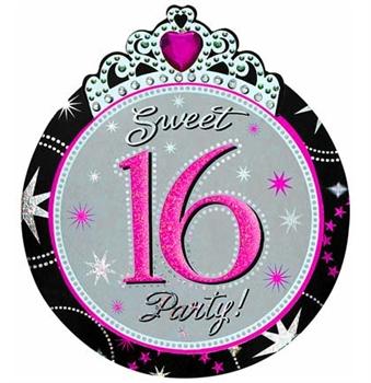 Jewel & Glitter Sweet 16 Invites   Sweet 16 Party Invites