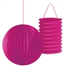 Set of 2 Pink Party Lanterns