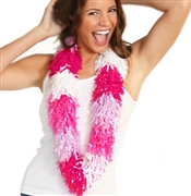 Fringe Hawaiian Lei:Lavender,Red,White,& Pink