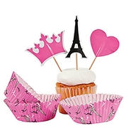 Party in Paris Cupcake Cups & Picks