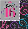 Sweet 16 Sparkle Napkins