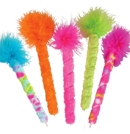 Feather Pen Assorted Colors Sweet 16 Party Favors