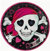 Pink Pirate Girl Plates