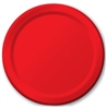 Solid Red Dessert Plates