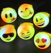 Set of 24 Light Up Emoji Rings | Sweet 16 Party Favors | Sweet16PartyStore.com