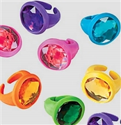 Set of 12 Rubber Jewel Rings