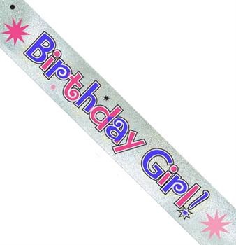 Silver Birthday Girl Sash Sweet 16 Party Sash Sweet 16