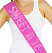 Sweet & 16 Rhinestone Birthday Sash