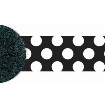 Black white polka dot party streamer sweet 16 party for Black and white polka dot decorations