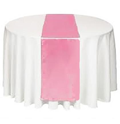 Lovely Light Pink Satin Table Runner