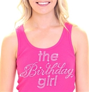 The Birthday Girl Rhinestone Tank Top | Sweet 16 Shirts