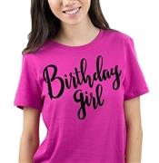 Birthday Girl Black Glitter Tee | Sweet 16 Shirts