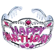 Jeweled Happy Birthday Tiara