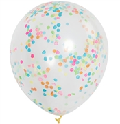 Multi-Colored Confetti Party Balloons