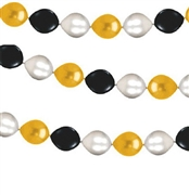 9ft Black, Gold, Silver Balloon Garland