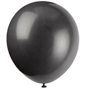 Solid Black Party Balloons