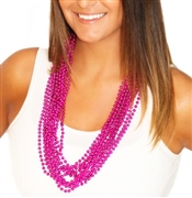 12pc Pink Metallic Beads