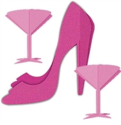 Stiletto Party Centerpiece: 3pc Set