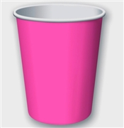 Solid Hot Pink Party Cups
