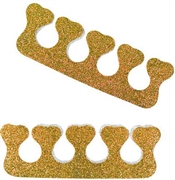 Set of 2 Gold Glitter Toe Separators