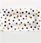 Black & Gold Polka Dot Appetizer Plates