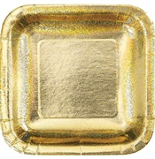 Gold Iridescent Glitter Dinner Plates