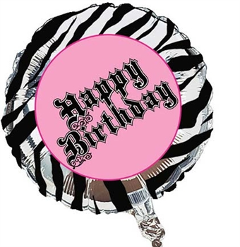 Large Sweet 16 Animal Print Party Balloon
