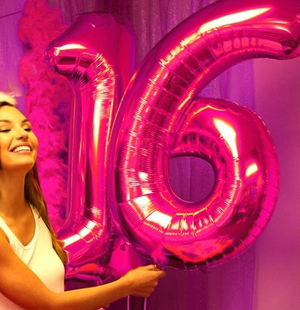 Jumbo 16 Mylar Pink Balloons
