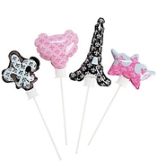 Party in Paris Mini Mylar Balloons