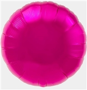 Pink Mylar Round Shaped Balloon