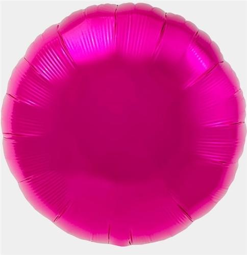 pink mylar round shaped balloon