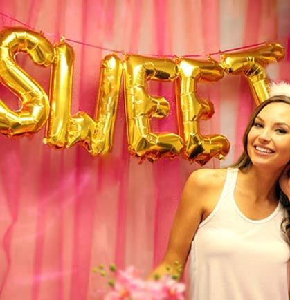 Sweet Mylar Gold Balloons Sweet 16 Party Supplies