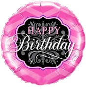 Pink Happy Birthday Balloon