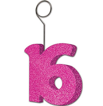 Sweet 16 Sparkle Balloon Weight or Photo Holder