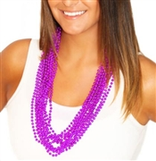 12 Pc Set Purple Bead Necklace