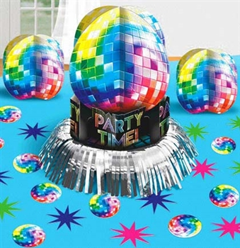 Disco Party Centerpiece: 3pc Set