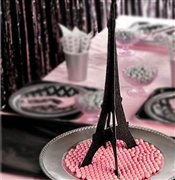 Black Glitter Eiffel Tower Centerpiece