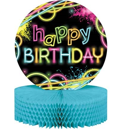 Neon Happy Birthday Centerpiece #1: CENTRPC0NHBCP 2