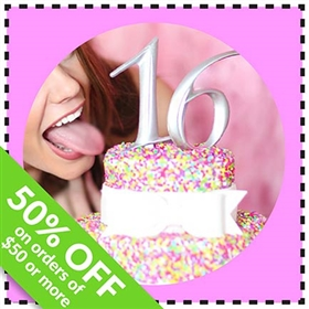 Take 50% Off 16 Silver Cake Topper Coupon